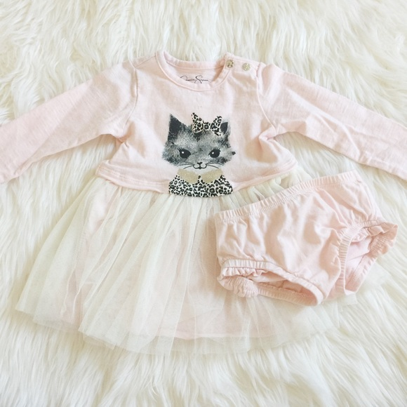 Jessica Simpson Baby Clothes New Jessica Simpson Dresses Baby Girl Kitten Dress Poshmark